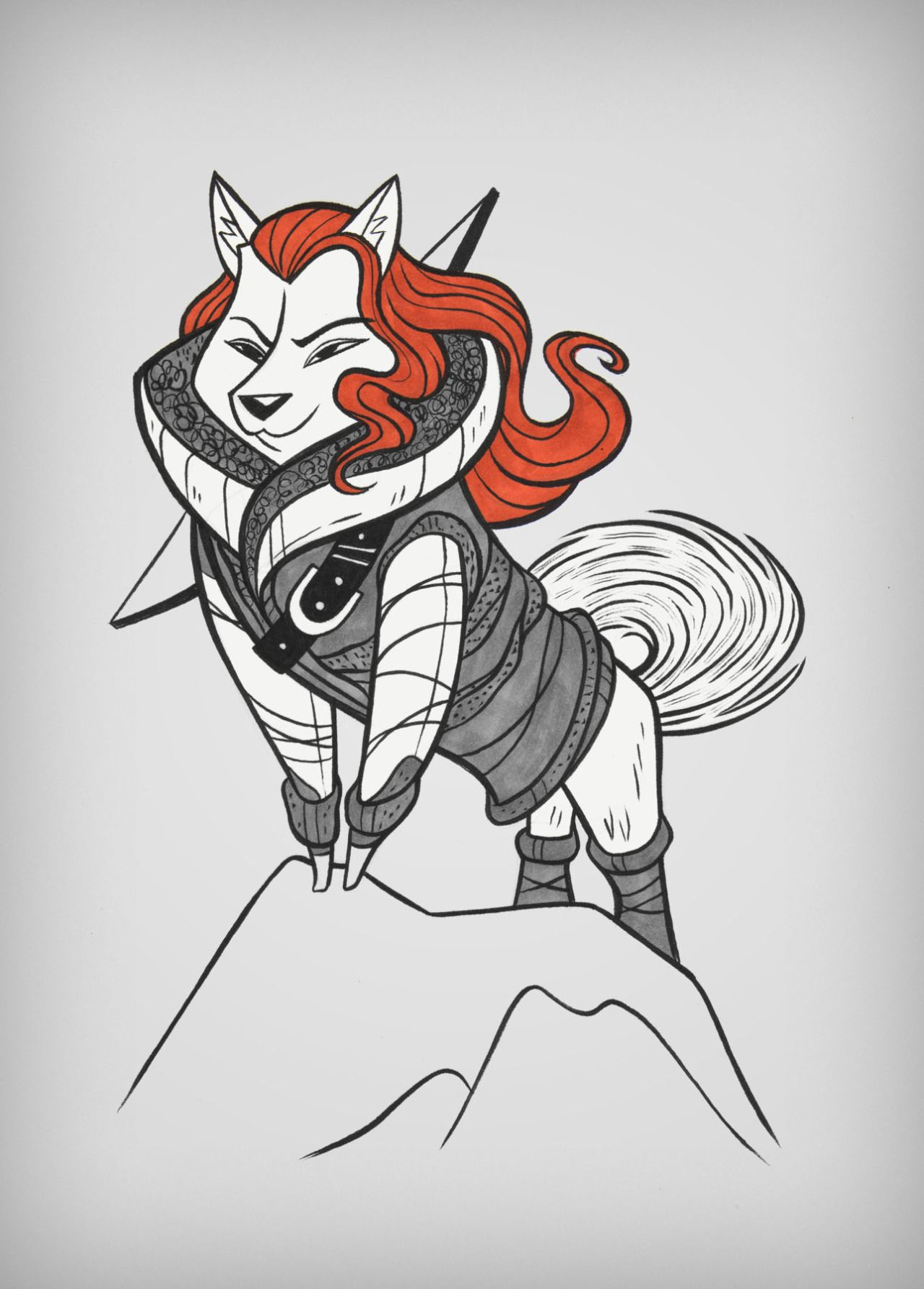 Game of Bones - Ygritte as a Shiba Inu
