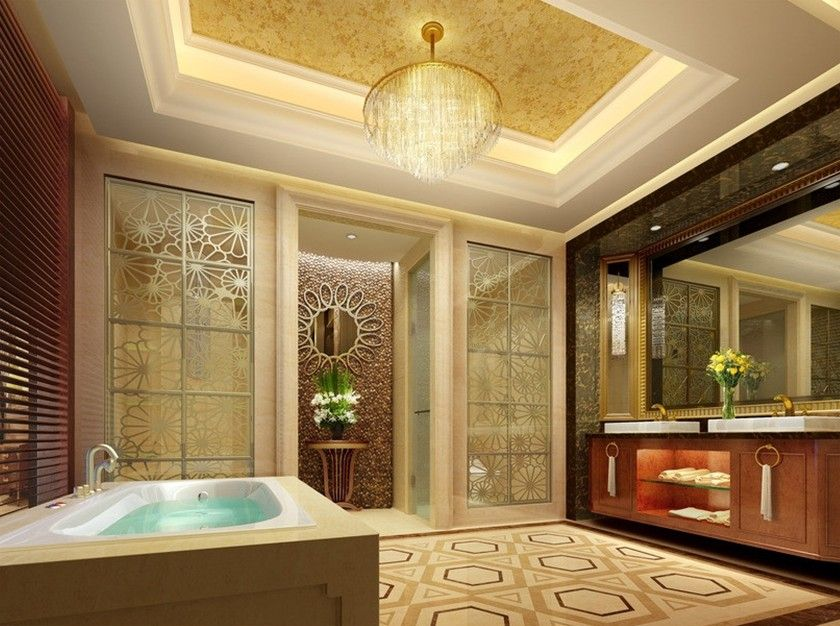 images of luxury resorts | Five-star hotel luxury bathroom interior design  | 3D house