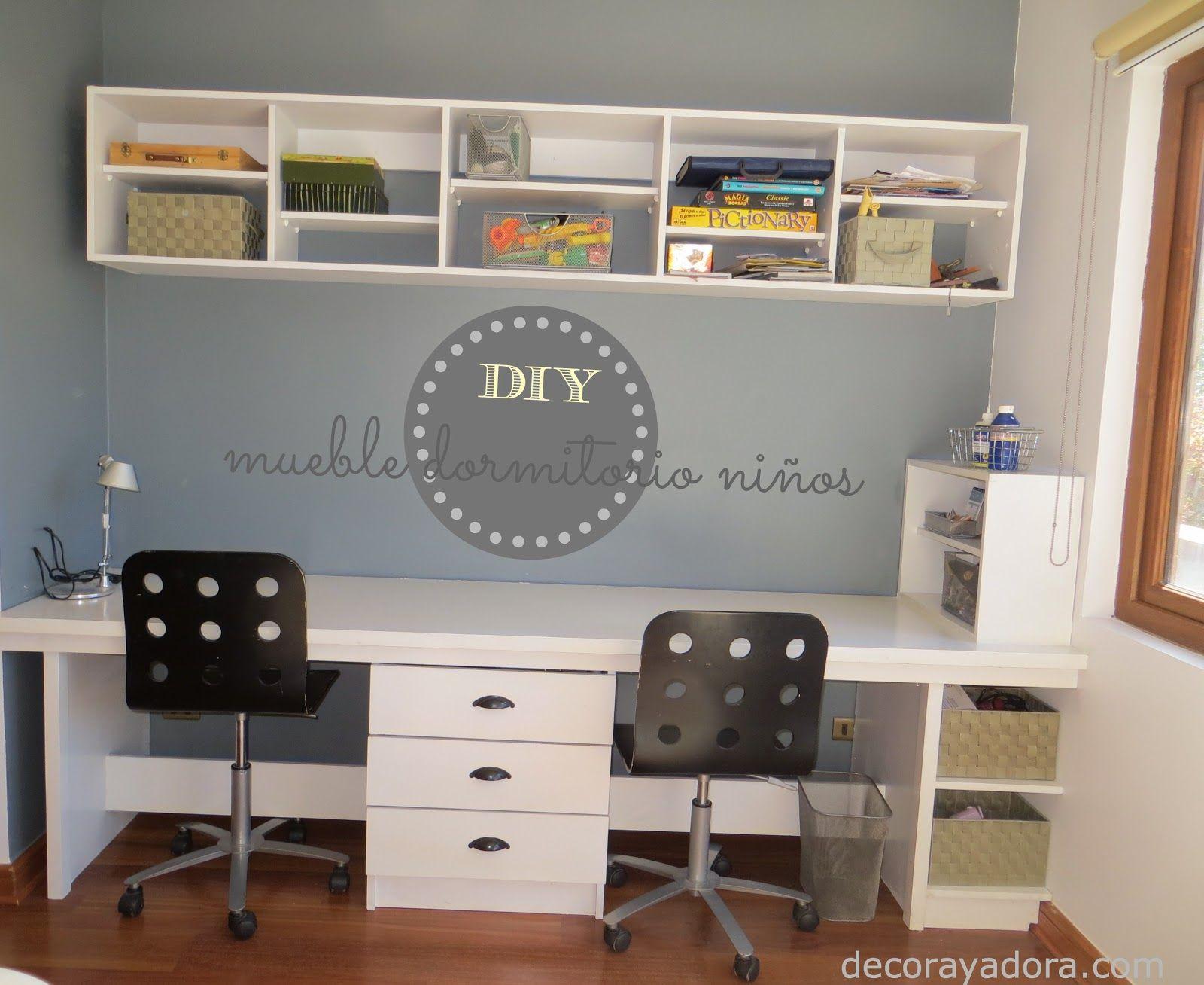 DIY mueble dormitorio niños | Workspace - Office | Pinterest ...