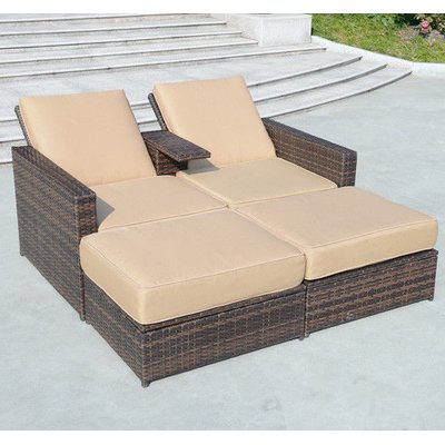 Awesome Marti Double Reclining Chaise Lounge With Cushion Deck Machost Co Dining Chair Design Ideas Machostcouk
