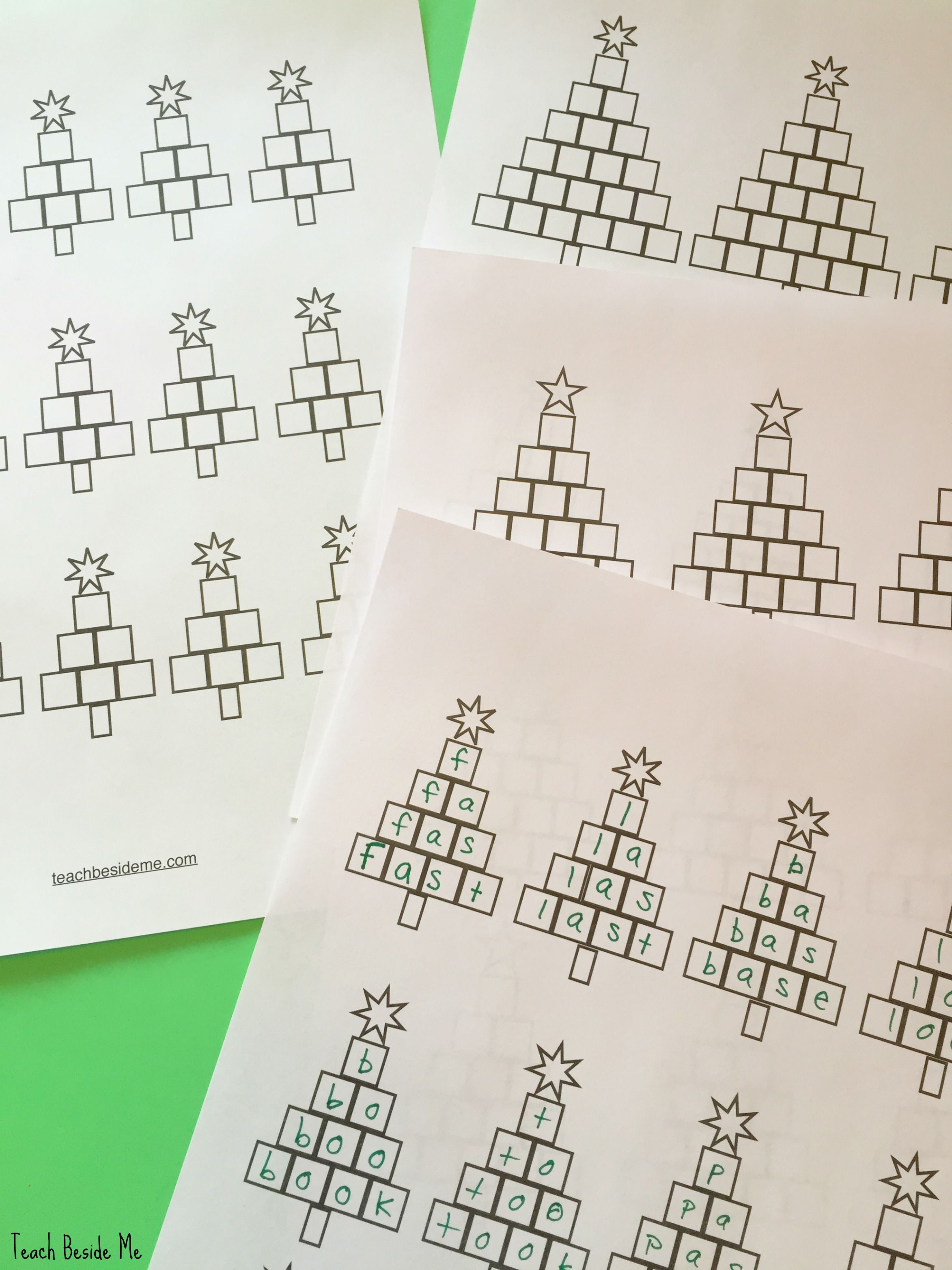 Christmas Tree Spelling Worksheets