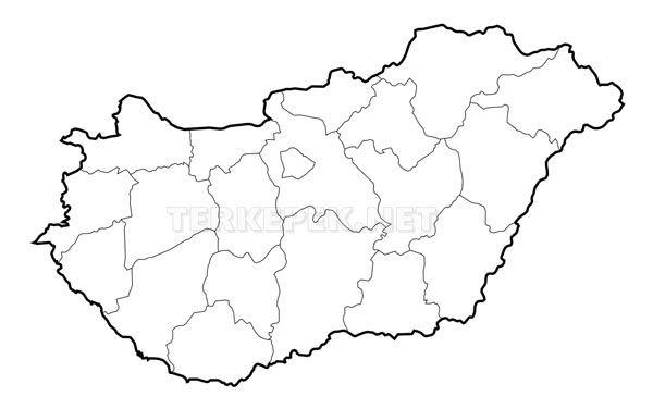 magyarország térkép rajz Magyarország vaktérkép | Környezetismeret   Föld | Pinterest  magyarország térkép rajz