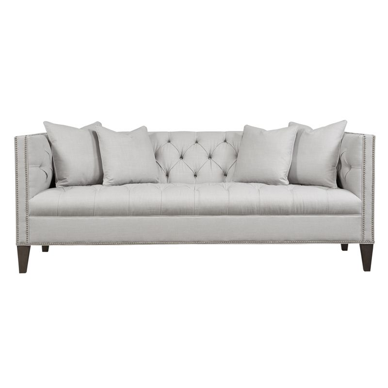 3 Duralee Chatham Sofa In Leather Custom Length And Finish