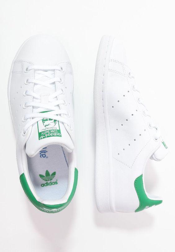 brand new 2c159 6525a adidas stan smith j w femme blanc vert  AIKOCHAUSSURE  BASKETFEMME   CHAUSSUREFEMME