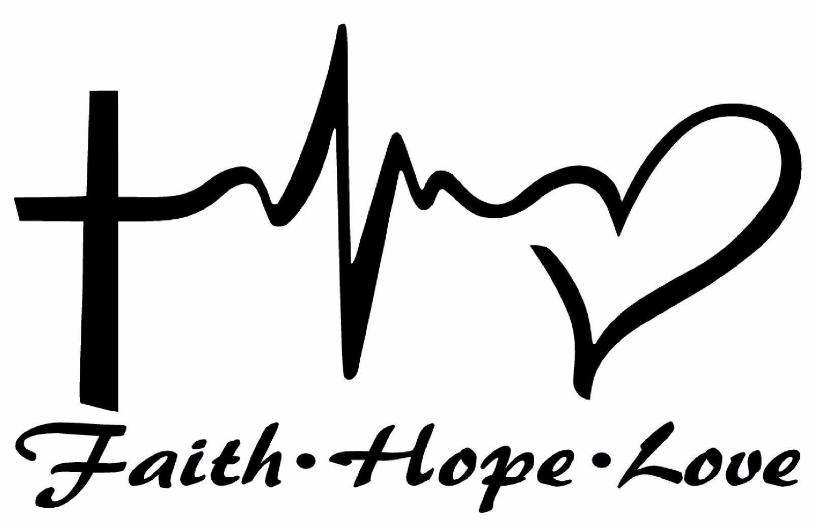 Faith Hope Love Vinyl Decal Sticker Car Window Wall Bumper Symbol