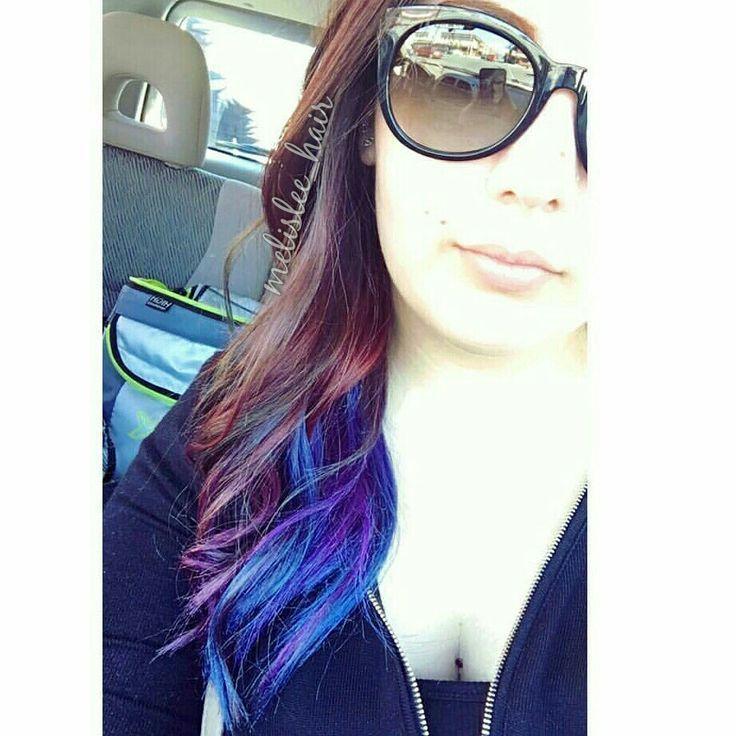 Blue violet and red under lights Instagram Melisleehair   Blue violet and red under lights Instagram Melisleehair