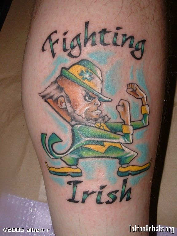 The good old fighting irish tattoo irish irishtattoo for Notre dame tattoo