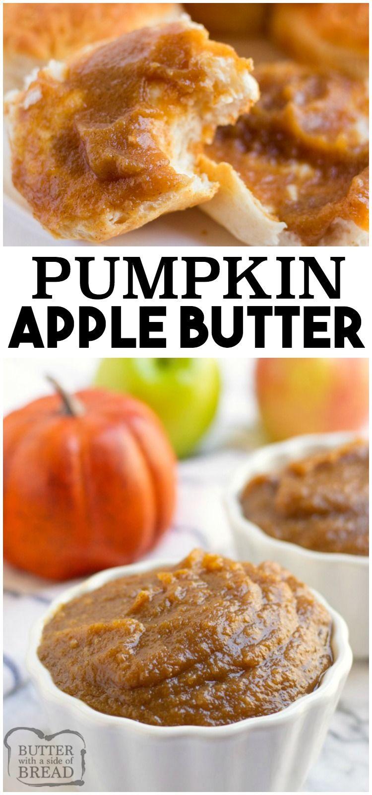 CROCKPOT PUMPKIN APPLE BUTTER RECIPE - Butter with a Side of Bread