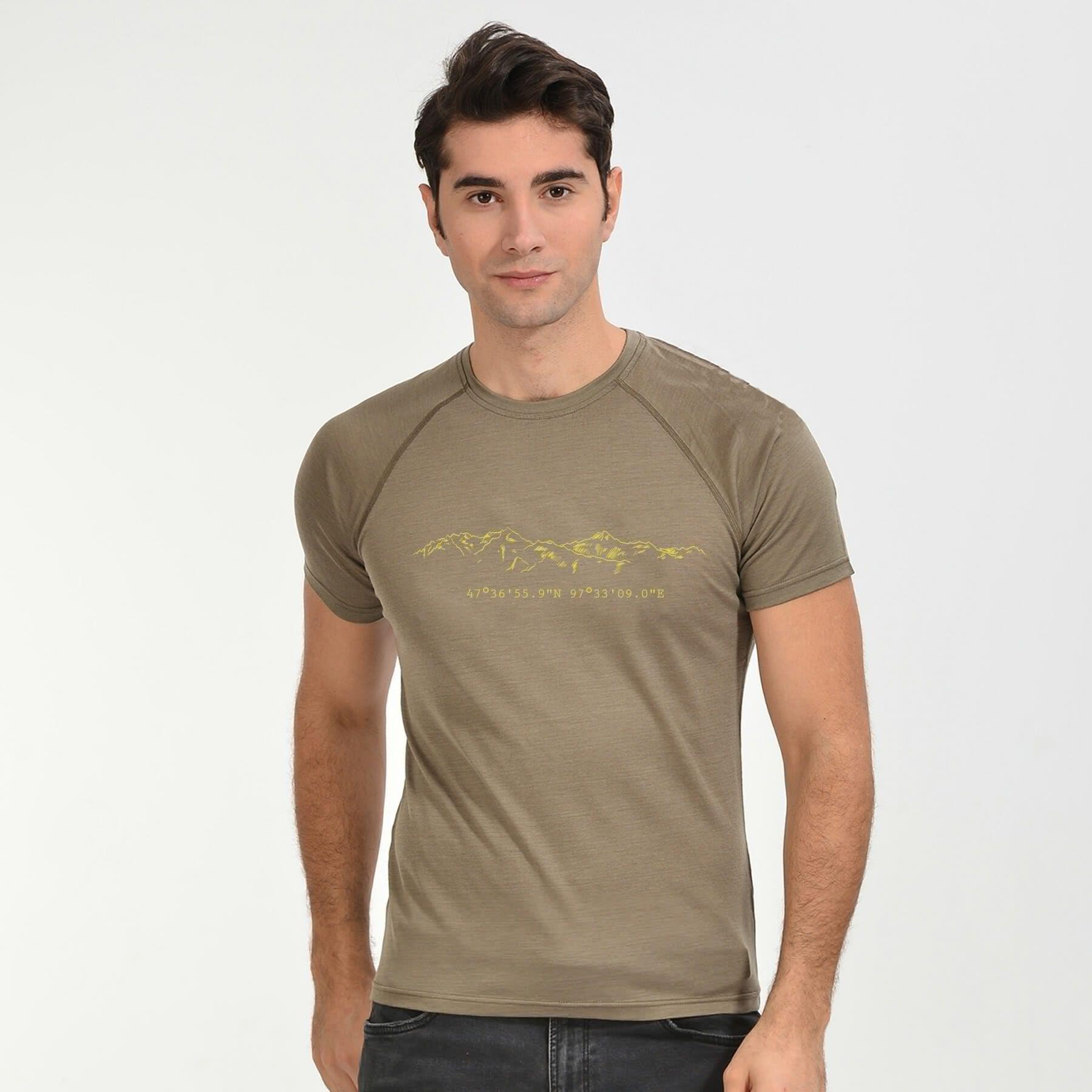 Merino Wool Tshirt Outdoor Outfit Mens Tops Mens Tshirts