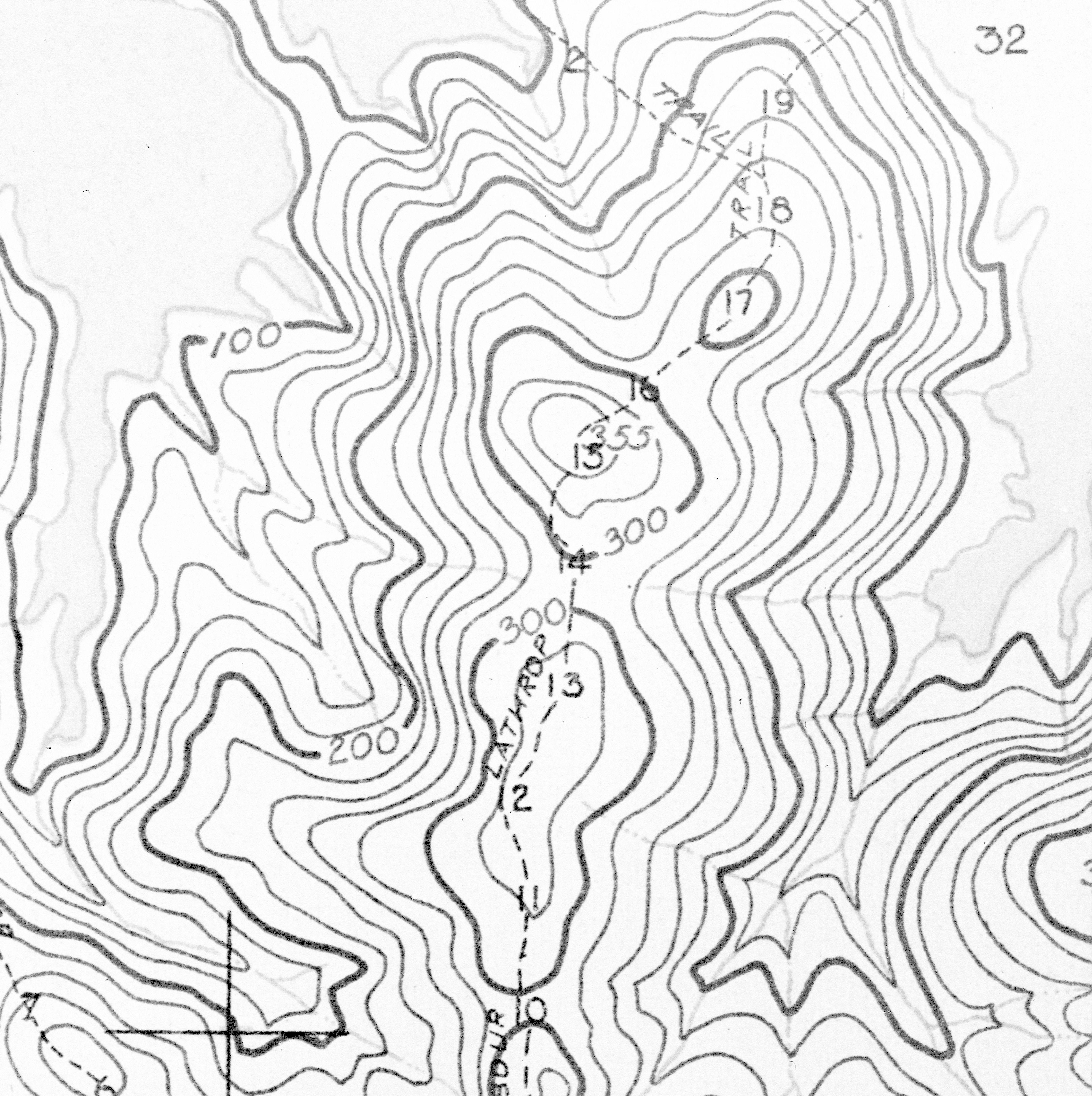 Barro Colorado Island Topographic Map Panama