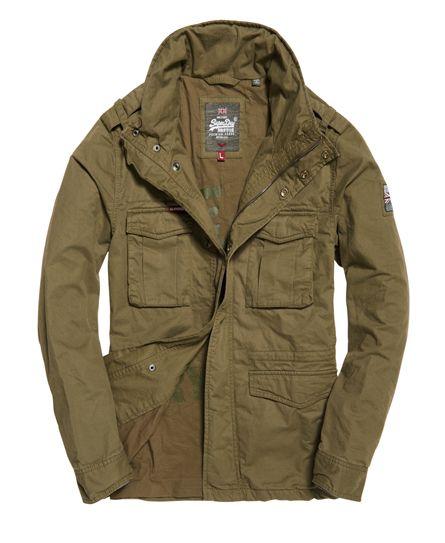ce795ff219f3e Superdry Cazadora Rookie Military Verde. Superdry Rookie Military Jacket  Green Superdry Mens ...