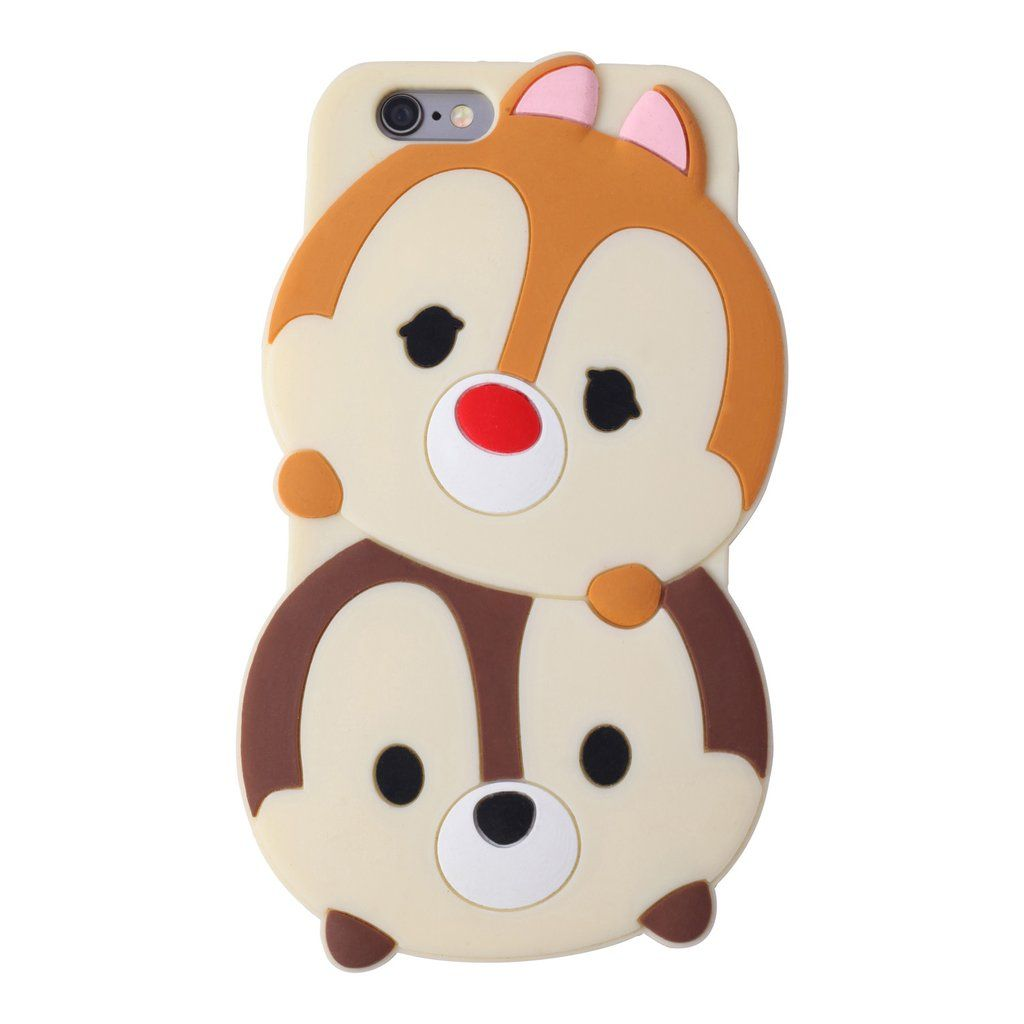 This Soft And Flexible Silicone Phone Case Features Chip And Dale Stacked In Classic Tsum Tsum Style Availabl Disney Phone Cases Cute Phone Cases Disney Cases