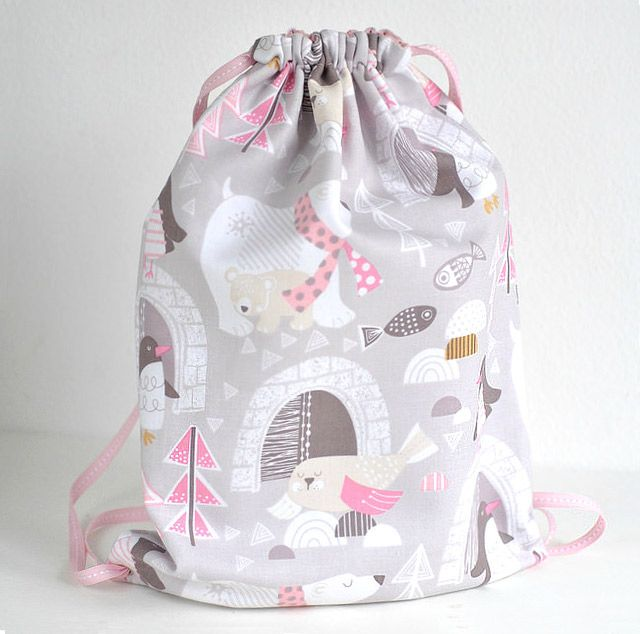 Toddler Girls Drawstring Backpack Sewing Tutorial | Easy bags ...