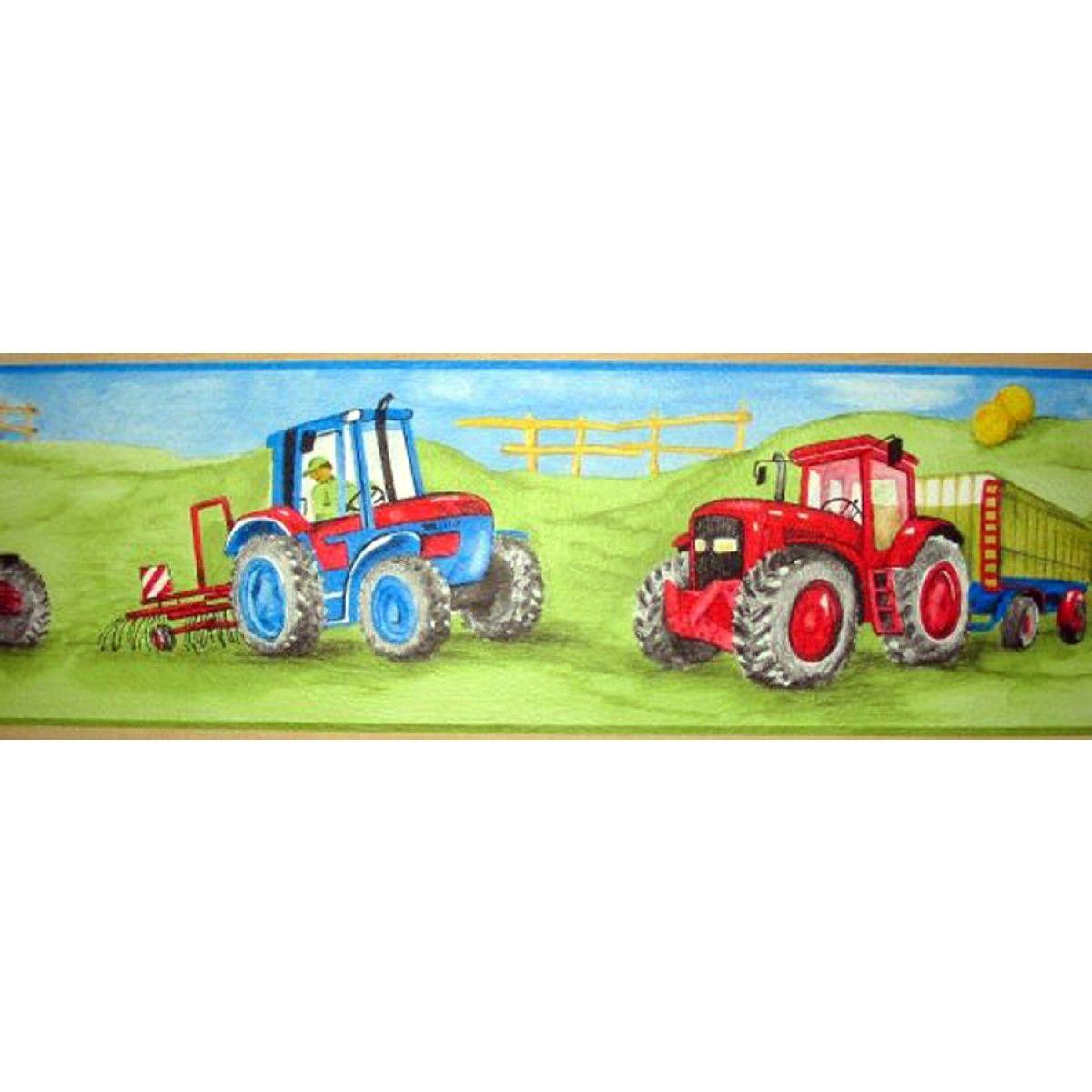 Tractor Green Wallpaper Border 5m Wallpaper Border Green