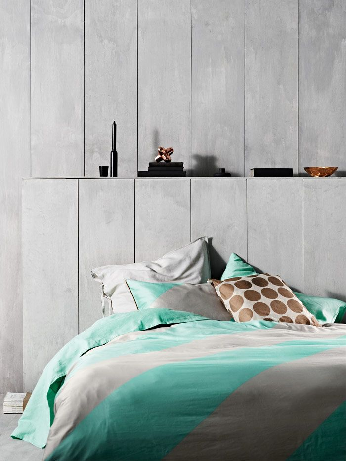 Big Stripe in Mint Stylist Selection via @aurahome #bedroom ...