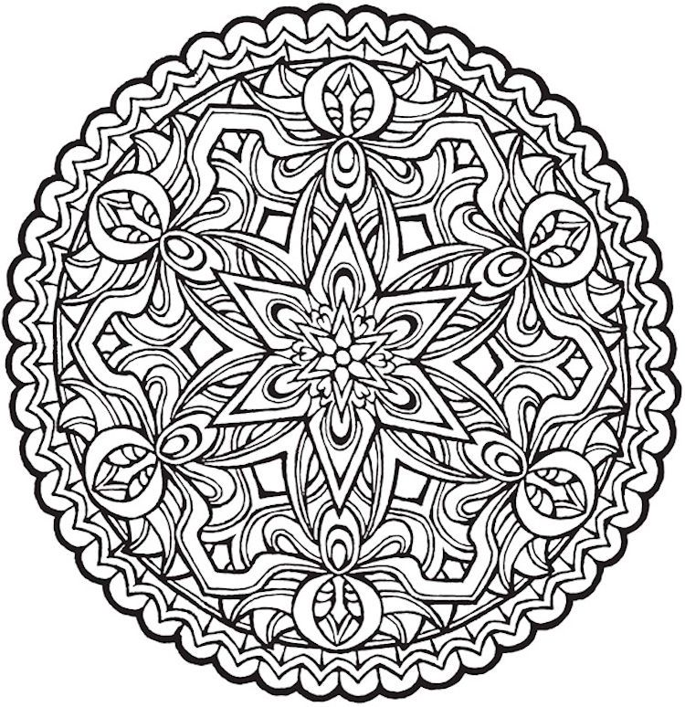Mandala Coloring Pages On Pinterest. Dover Creative Haven Magical Mandalas Coloring Page 1  Adult