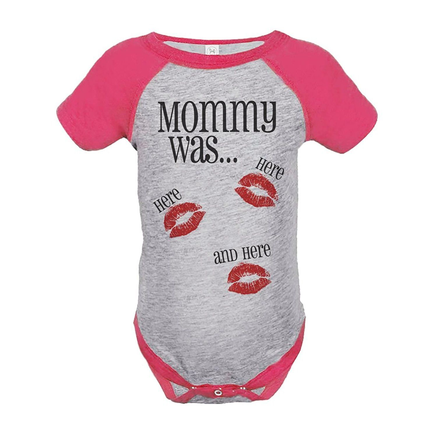 Custom Party Shop Kids Mommy Was Here Valentine's Day Pink Onepiece