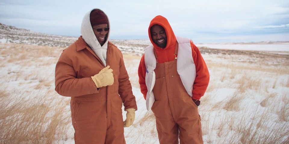 Kanye West Joins His Father For A Ride Around His Wyoming Ranch For Follow God Video Kanye West Hollywood Music Christian Rap