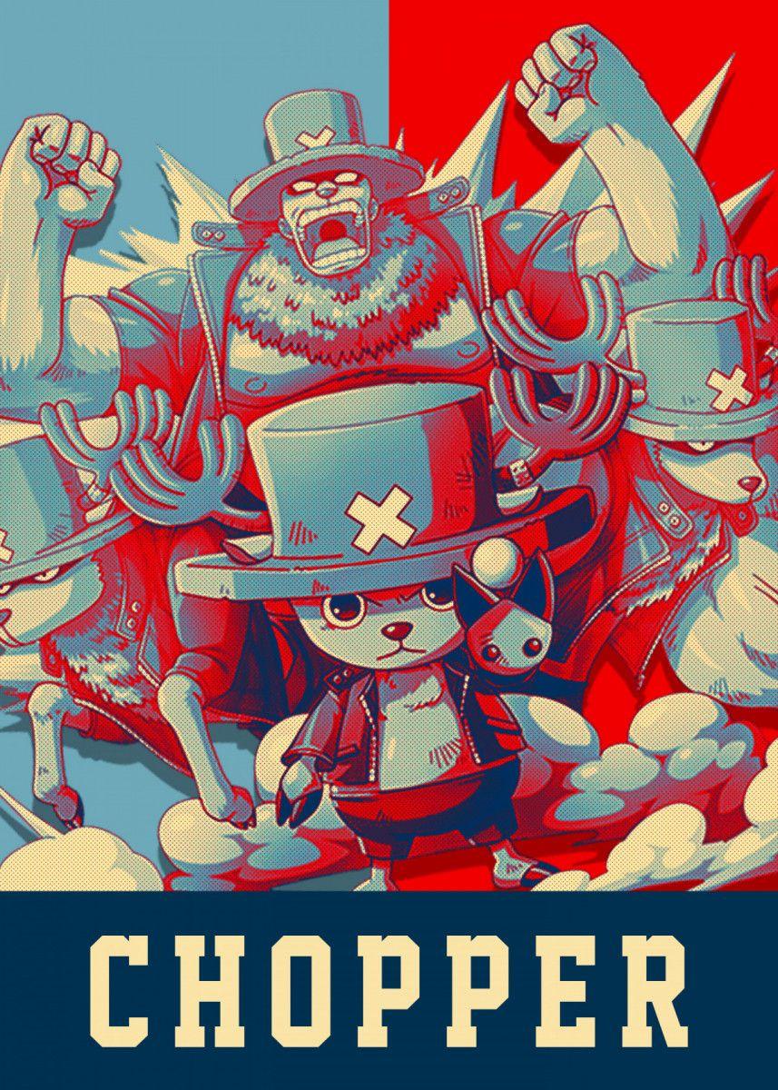 Chopper One Piece Anime & Manga Poster Print metal
