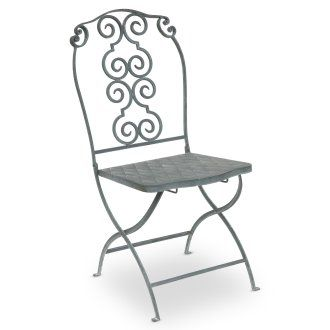 Metal Folding Chair With Scroll Back >> Also Cute Scroll Back Metal Folding Chair Gardens Heavenly