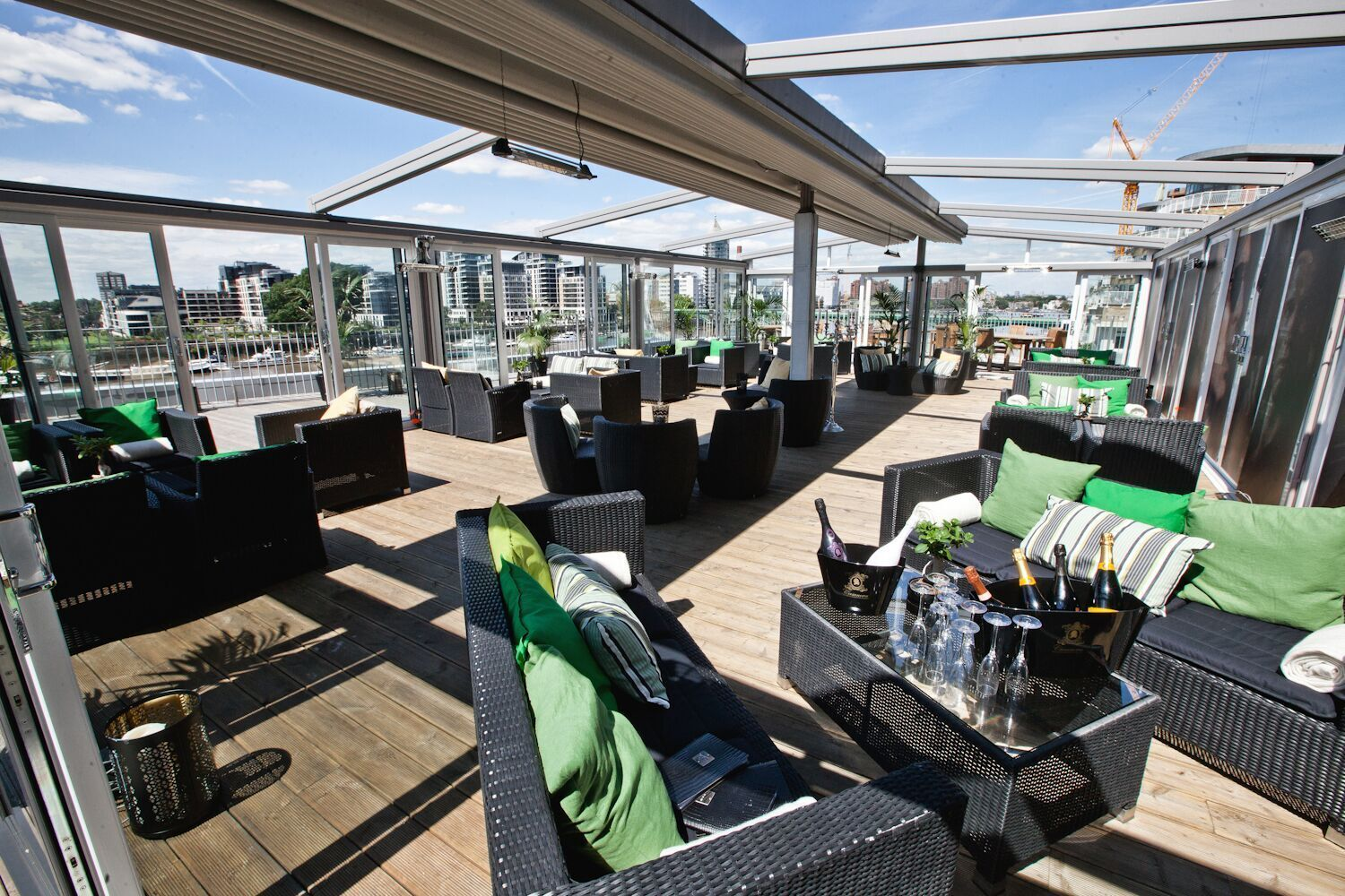 Views At The Anese Garden Rafayel Hotel Battersea Clapham Junction Rooftop