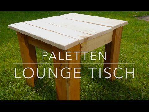 Beistelltisch Aus Paletten Selber Bauen Upcycling Diy Vintage Tisch How To