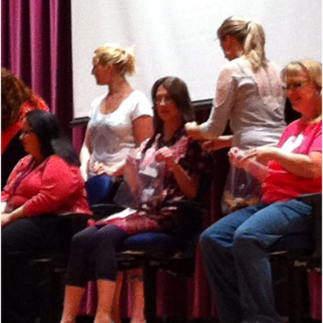 Annual Locks of love assembly @ Smithfield 2011-->10 inches donated and ready to grow and donate again!