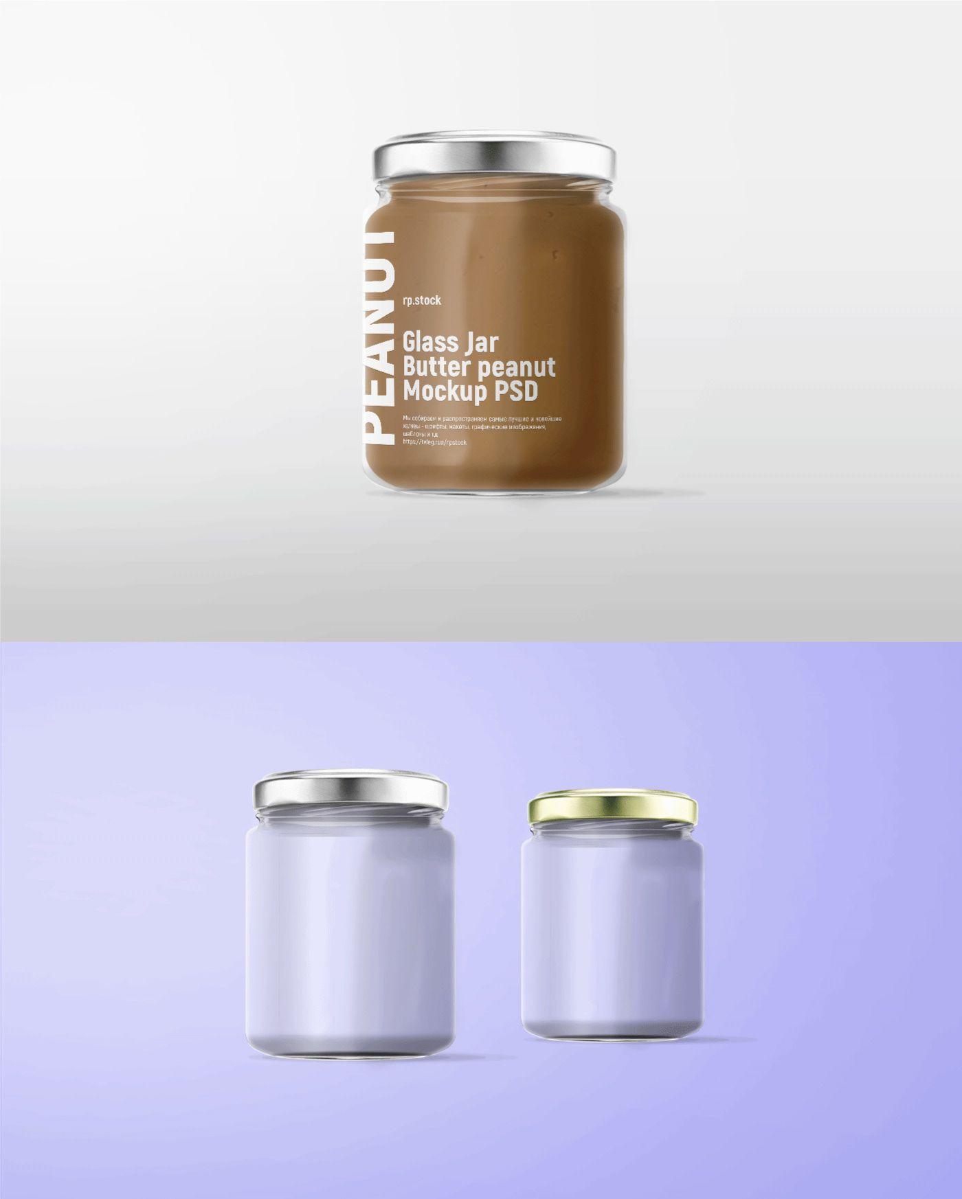 Free Realistic Glass Jar Mockup On Behance Glass Jars Bottle Mockup Jar