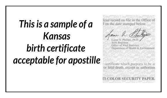 12 best state of kansas sample apostille images | state of kansas ...