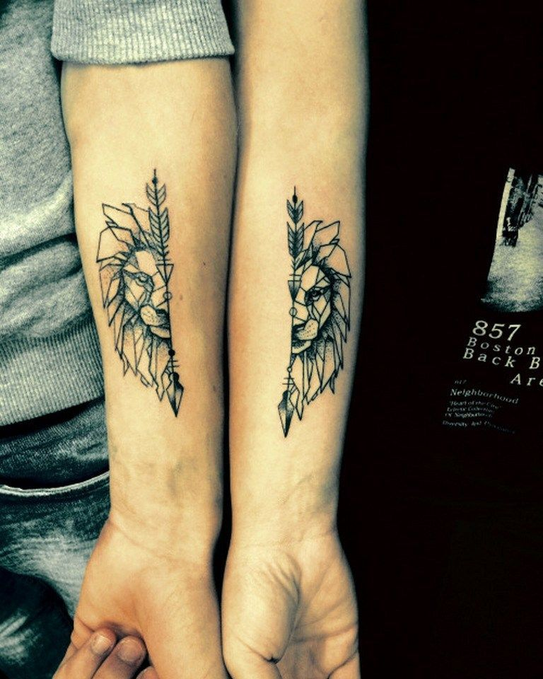 Matching Tattoos For Best Friends, Husband And Wife -2618