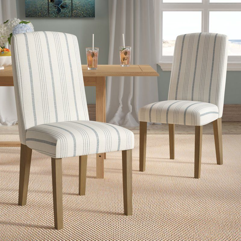 Lake Kathryn Stripe Upholstered Dining Chair Dining Chairs