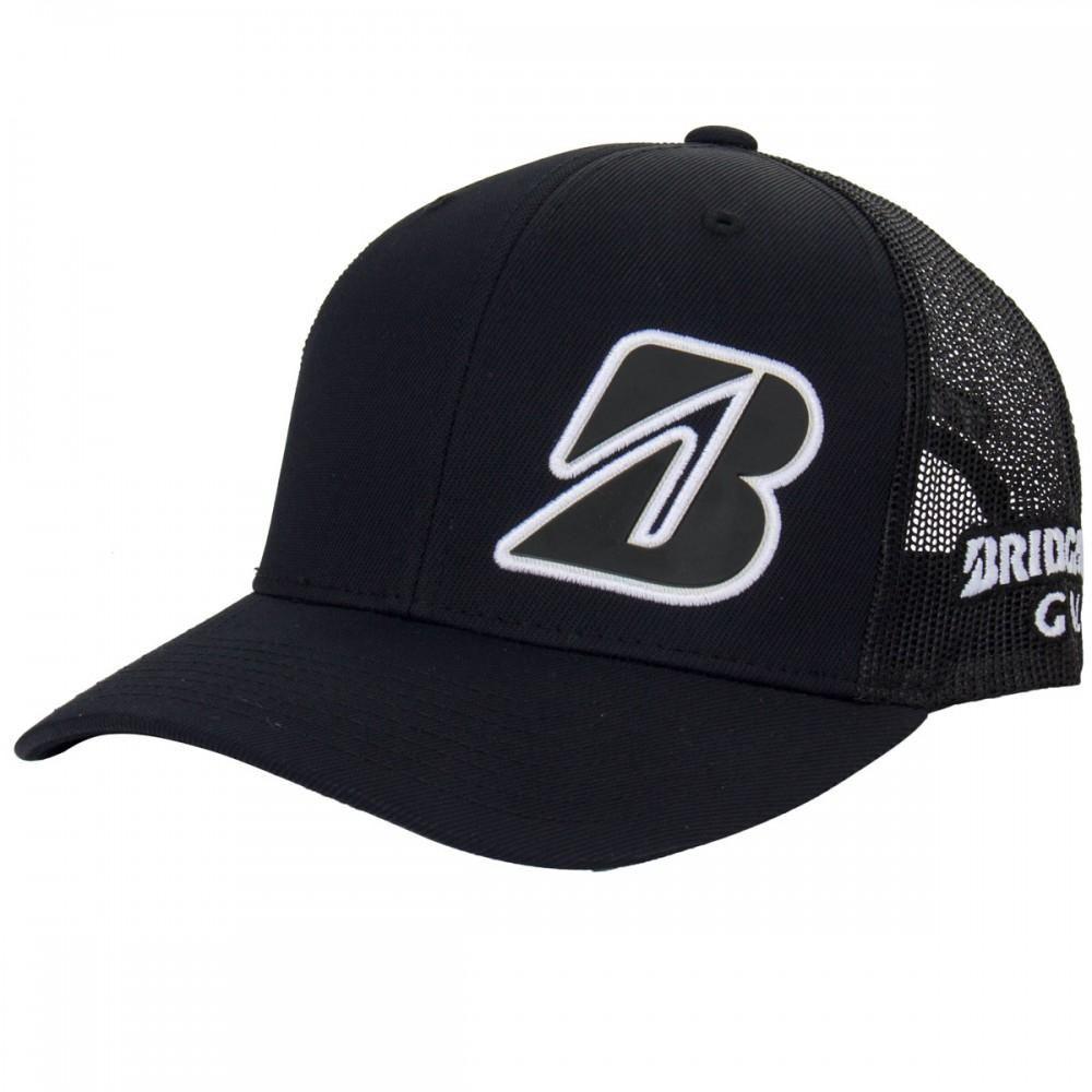 Headwear Hat Bridgestone Border B Snapback Golf Hat Black Golf Hats Golf Outfit Hats