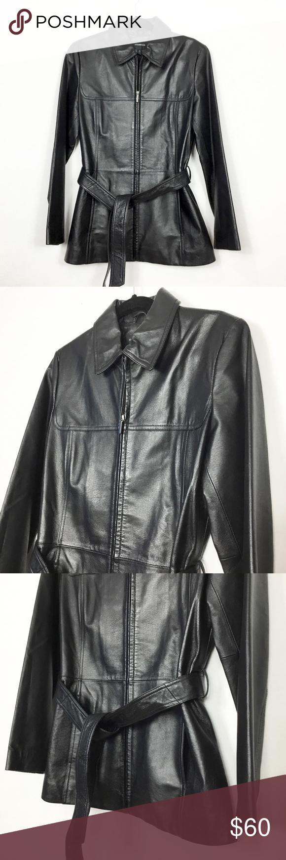 Colebrook Genuine Leather Tie Hip Jacket Leather jacket