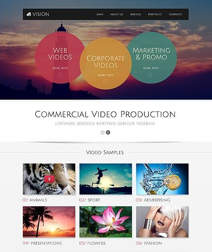 Bootstrap Website Templates Template 49517  Video Production Responsive Bootstrap Website
