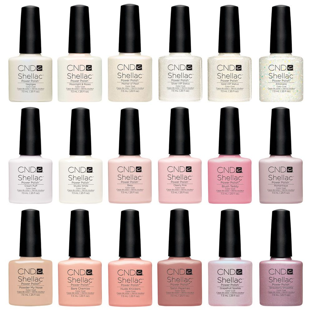 CND Shellac UV Nail Polish ALL NEW French Manicure Colours