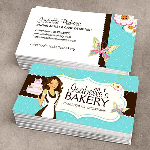 Whimsical Bakery Business Card | Bakery business cards, Bakery ...