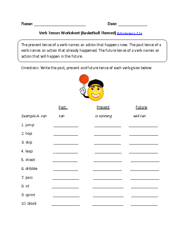 Printables Verb Worksheets 3rd Grade verbs worksheet 3rd grade davezan language common cores and verb tenses on pinterest core worksheets