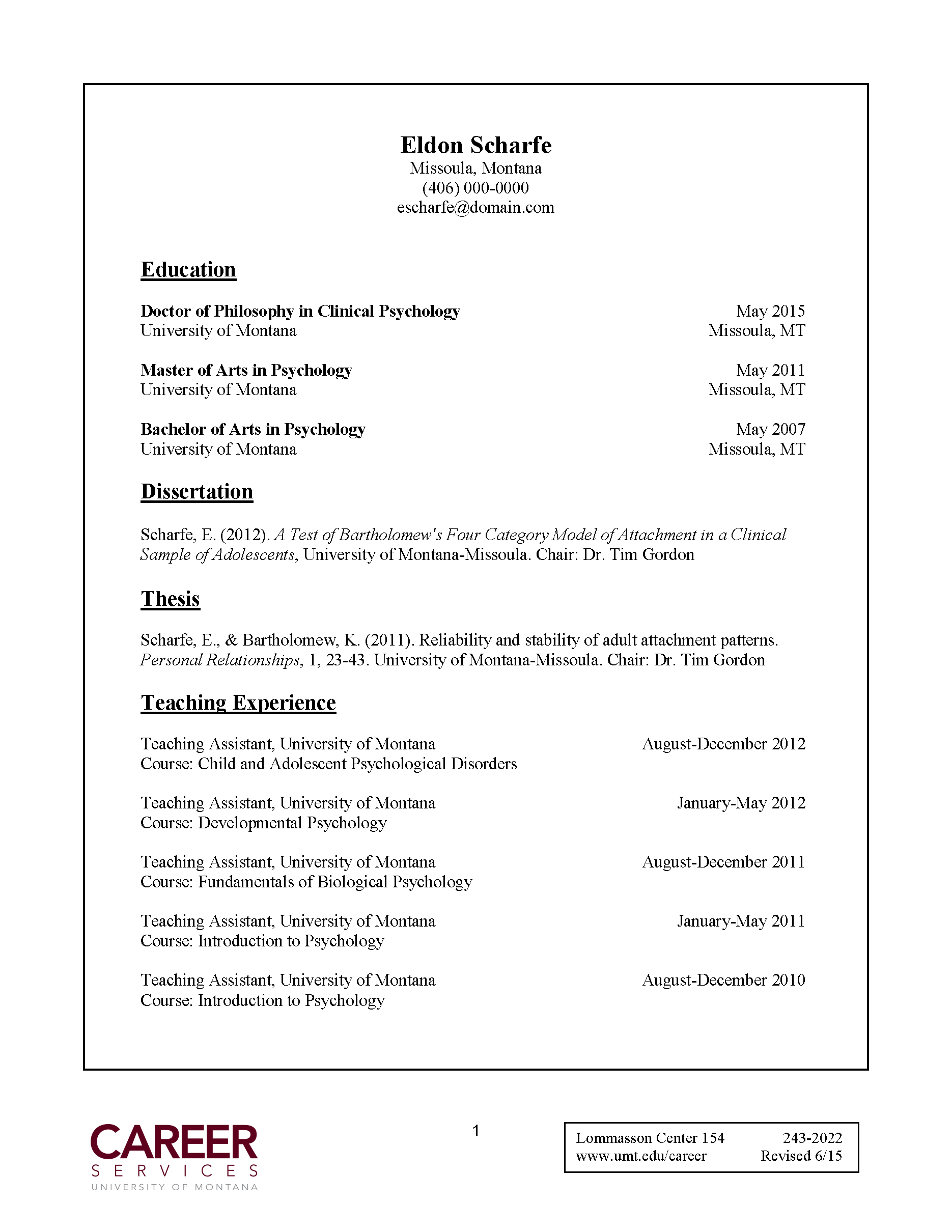 Dissertation proposal syllabus