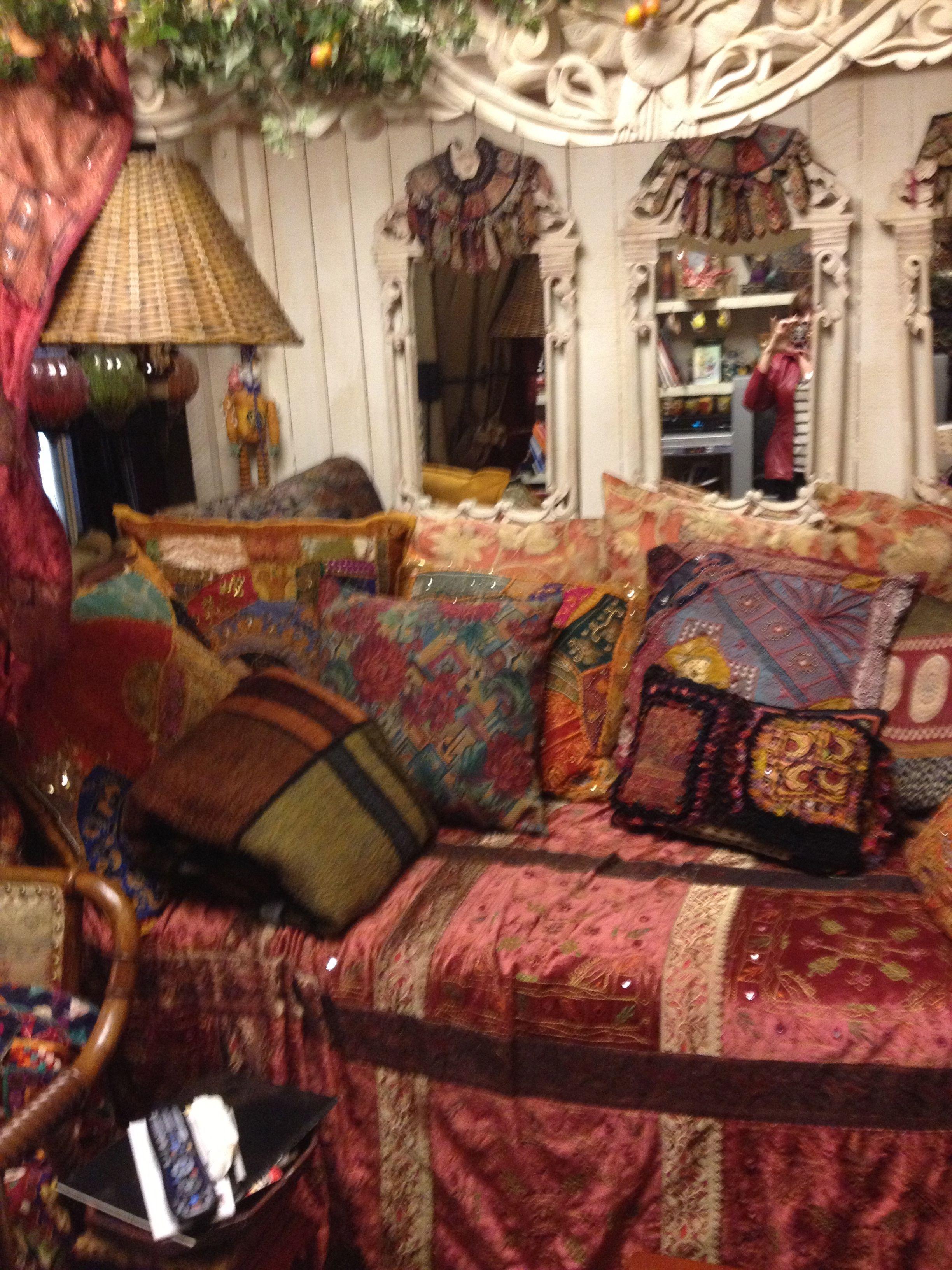 Romantic Boho Bedroom: Bohemian style home in CA.   Boho ...