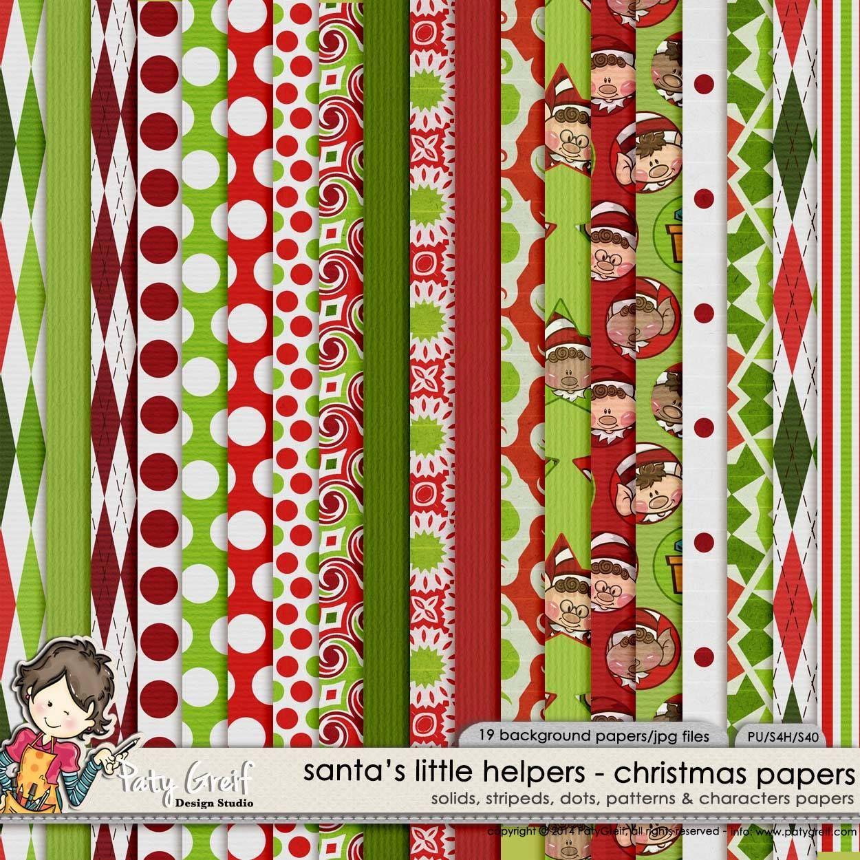 christmas paper printables free