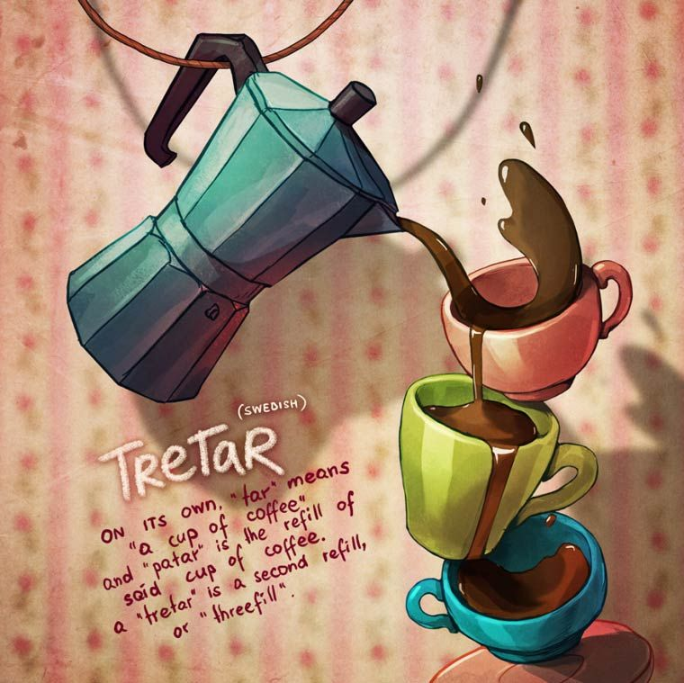 Untranslatable words explained thanks to the beautiful illustrations of the British artist Marija Tiurina