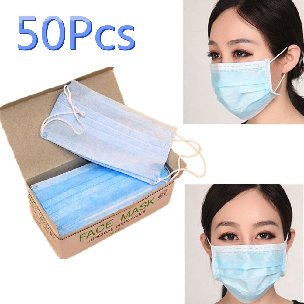 50pcs Anti-dust Anti-smog lot Surgical Face Ear Disposable Mask