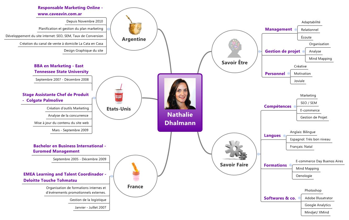quels sont les avantages et les b u00e9n u00e9fices de faire votre cv en format mind mapping   trouvez