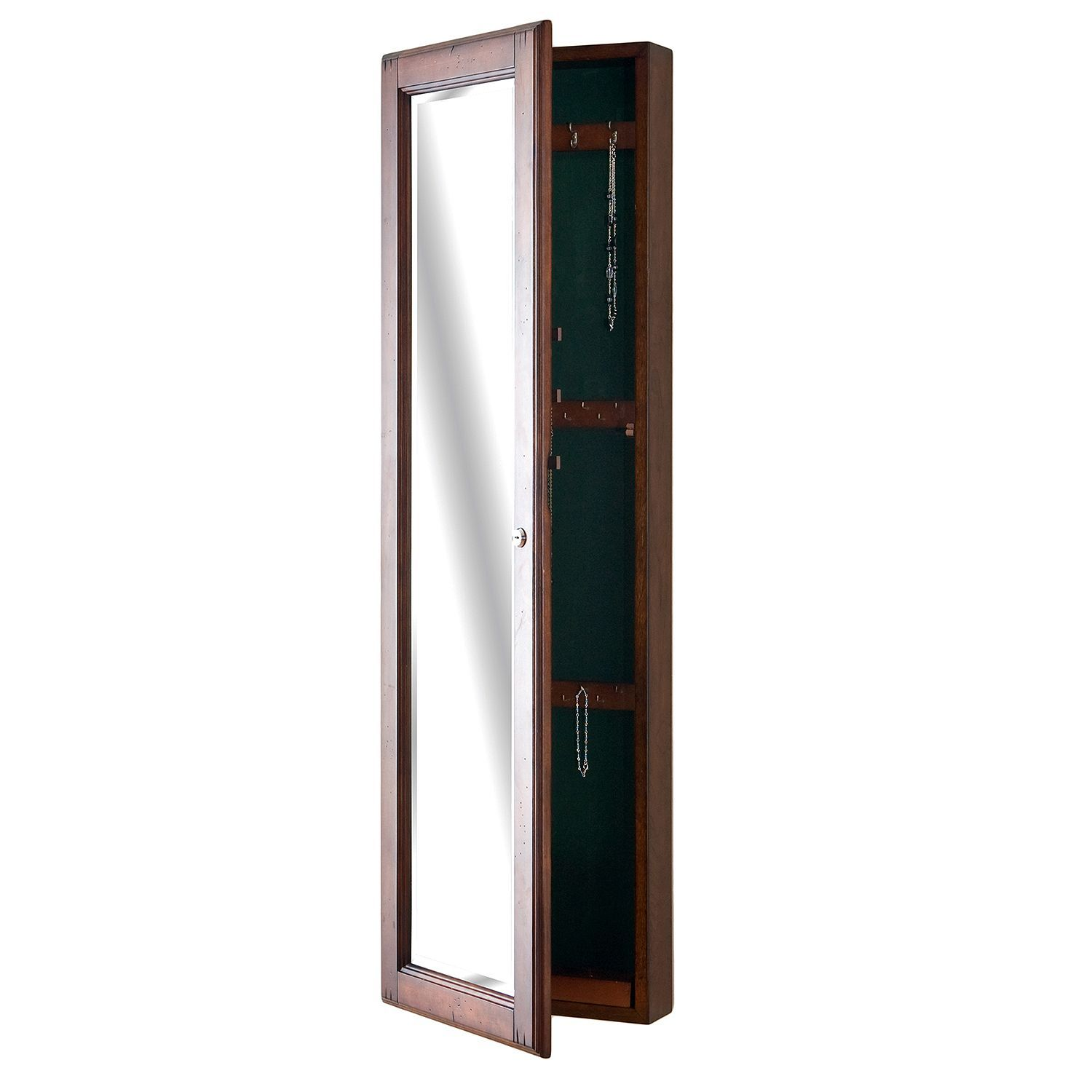 """""""Hideaway"""" Wall Mount Jewelry Mirror - Walnut (With images ..."""