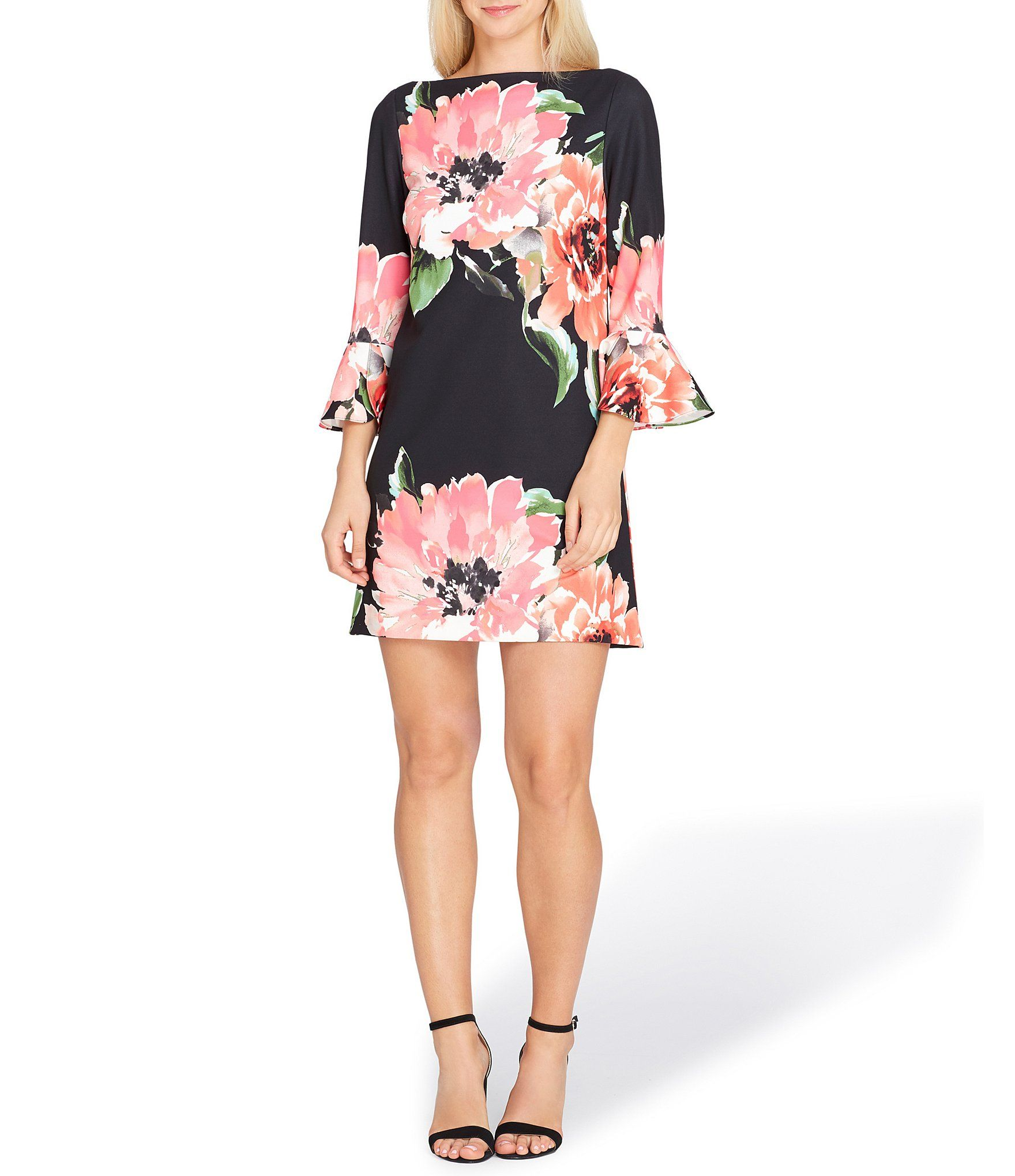 f431d55caba Tahari ASL Floral Bell Sleeve Shift Dress  Dillards