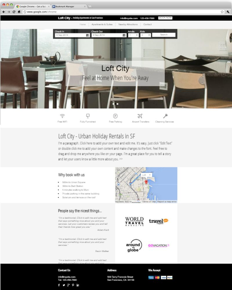 Urban Holiday Apartments Website Template Design Wix Website Templates Wix Templates