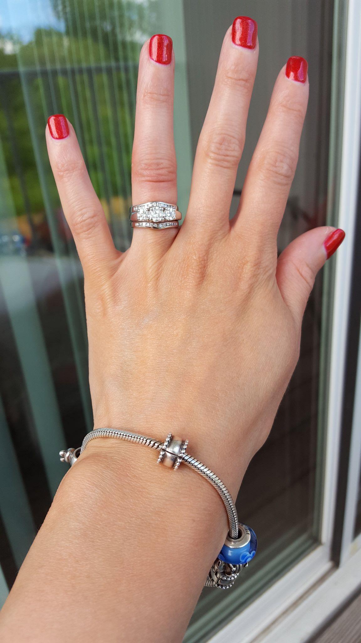 Three Stone E Ring With Enhancer Three Stone Diamond Ring Engagement Ring Wedding Band Engagement Ring Inspiration