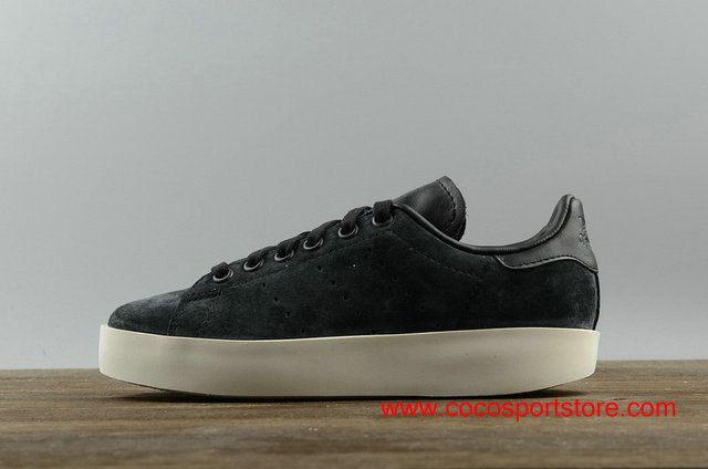 cf5e3bfcc17f Adidas Stan Smith BD Suede CG3776 Platform All Black Womens Increase Shoes