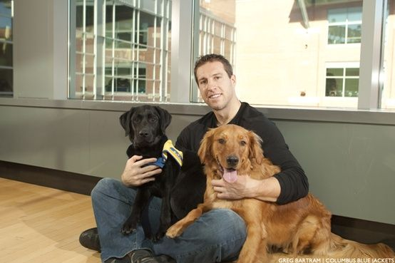 Hockey Players With Pets And Other Animals Canine Companions