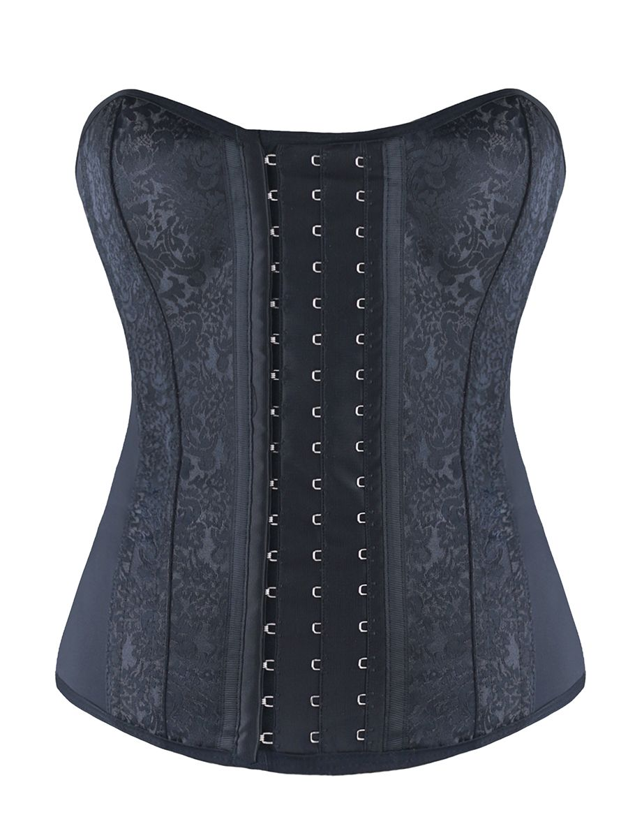 12f1e608c89 Burvogue Womens Gothic Latex Overbust Steampunk Corset Bustier Tops ...